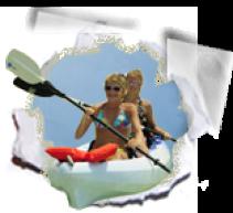 Kayaks on Panama City Beach